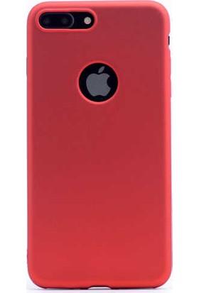 Zore Apple iPhone 7/8 Plus Kılıf Zore Premier Silikon - Kırmızı