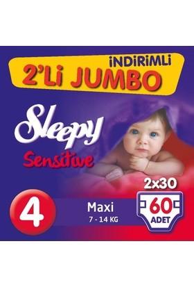 Sleepy Sensitive Bebek Bezi Ikili Jumbo Paket 4 Maxi 60 Adet