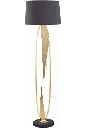 Tsd Dekorasyon Metal Ayaklı Lambader Altın