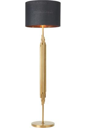 Tsd Dekorasyon Metal Ayaklı Lambader Altın Çubuklar