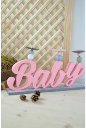 Sepetçi Baba Baby 3'lü Mumluk Pembe