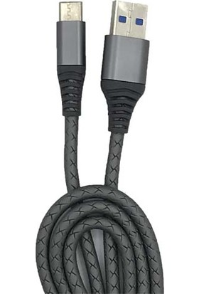 Ceplike Type-C USB Smart Link Üçlü Örgülü Silikon Kablo 1 mt