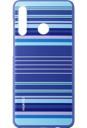 Huawei P30 Lite Colorful Arka Kapak - Mavi Çizgiler