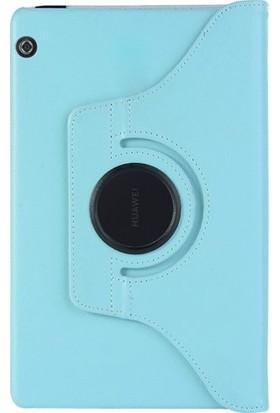 Cepmarketim Huawei Mediapad T5 10'' Kılıf 360 Rotating Stand Mavi