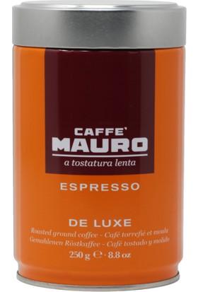 Caffe Mauro De Luxe Öğütülmüş Kahve Teneke Kutu 250 gr