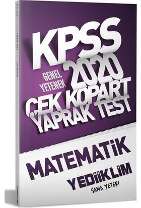 Yediiklim Yayınları 2020 KPSS Genel Yetenek Matematik Çek Kopart Yaprak Test