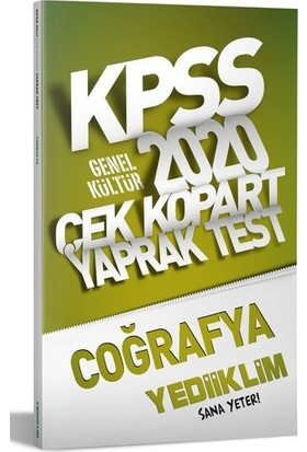 Yediiklim Yayınları 2020 Kpss Genel Kültür Coğrafya Çek Kopart Yaprak Test