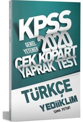 Yediiklim Yayınları 2020 Kpss Genel Yetenek Türkçe Çek Kopart Yaprak Test