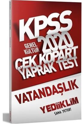 Yediiklim Yayınları 2020 KPSS Genel Kültür Vatandaşlık Çek Kopart Yaprak Test