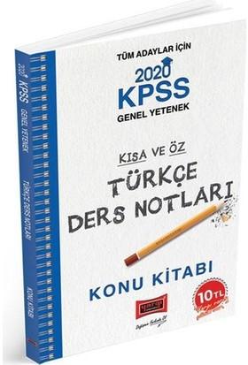 Yargı Yayınları 2020 Kpss Türkçe Kısa Ve Öz Ders Notları - Sanem Umut Bazman
