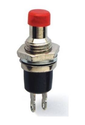 Bakay Buton Ø7mm Metal IC-177 Buton Ø7mm Kırmızı