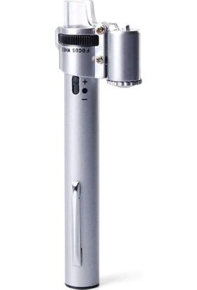 Alvepa Taşınılabilir Işıklı Kalem Mikroskop 100 x 2 LED'li
