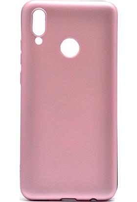 Teleplus Meizu Note 9 Kılıf Lüks Silikon Rose Gold + Nano Ekran Koruyucu