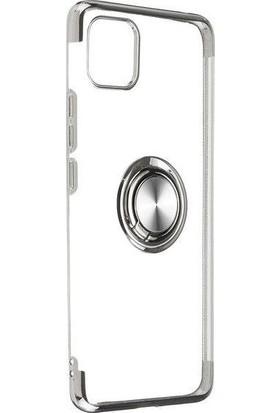 Teleplus Apple iPhone 11 Pro Kılıf Lüks Lazer Yüzüklü Silikon Gri + Nano Ekran Koruyucu