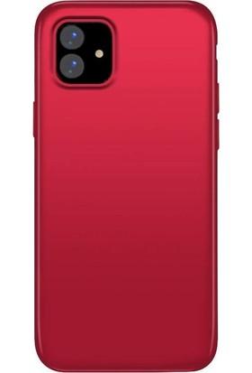 Teleplus Apple iPhone 11 Kılıf Lüks Silikon Kırmızı + Nano Ekran Koruyucu
