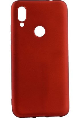 Happyshop Meizu Note 9 Kılıf Ultra İnce Mat Silikon + Nano Cam Ekran Koruyucu Kırmızı