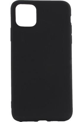 Happyshop Apple iPhone Pro 11 Pro Kılıf Ultra İnce Mat Silikon + Nano Cam Ekran Koruyucu Siyah