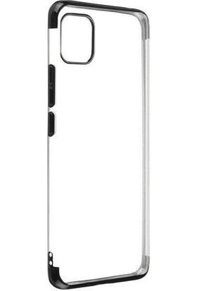 Happyshop Apple iPhone 11 Kılıf 4 Köşe Renkli Şeffaf Laser Silikon + Nano Cam Ekran Koruyucu Siyah