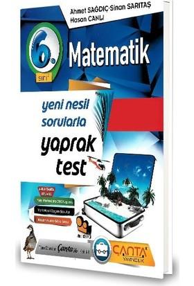 Çanta 6.Sınıf Matematik Yaprak Test-2020 Ahmet Sağdıç - Sinan Sarıtaş