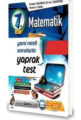 Çanta 7.Sınıf Matematik Yaprak Test-2020 Ahmet Sağdıç - Sinan Sarıtaş