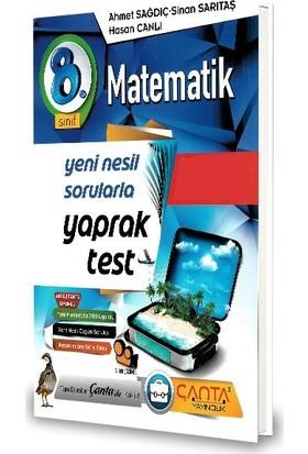 Çanta 8.Sınıf Matematik Yaprak Test-2020 Ahmet Sağdıç - Sinan Sarıtaş