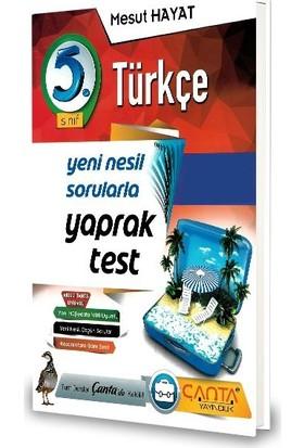 Çanta 5.Sınıf Türkçe Yaprak Test-2020 Mesut Hayat