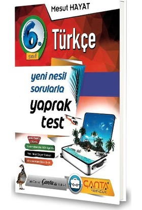 Çanta 6.Sınıf Türkçe Yaprak Test-2020 Mesut Hayat