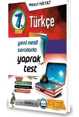 Çanta 7.Sınıf Türkçe Yaprak Test-2020 Mesut Hayat