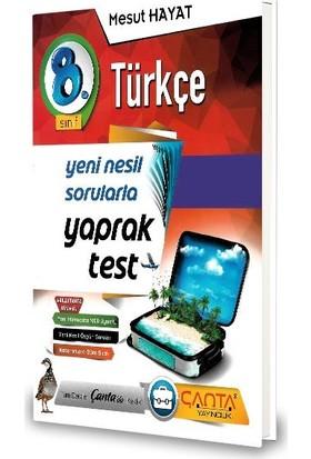Çanta 8.Sınıf Türkçe Yaprak Test-2020 Mesut Hayat