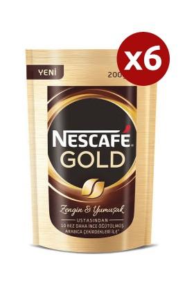 Nescafe Gold Kahve Eko Paket 200 gr 6'lı Set
