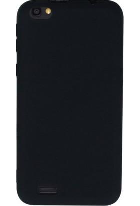 Kılıfist Vestel Venus Go Kılıf Premier Mat Esnek Silikon Kılıf + Esnek Nano Cam Siyah