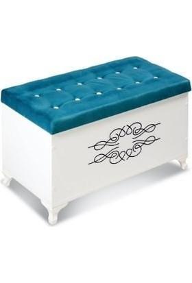 Yakos Mobilya Box Puflu Motifli Sandık