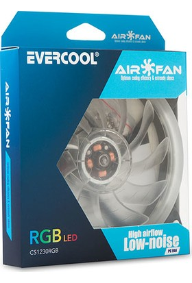 Evercool CS1230RGB 120x120x25 mm 7 Renkli Kasa Fanı