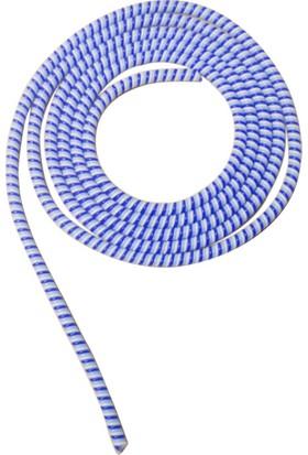 Spelt Kablo Kordon Koruyucu Spiral Sarma Kılıf Koruma Mavi