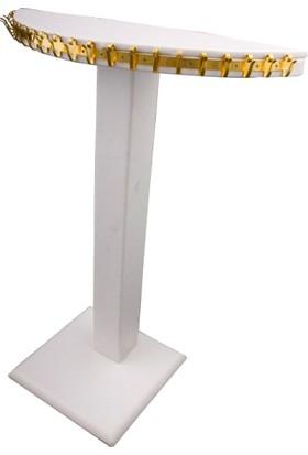 Aydın Dekor Ay Model Deri Beyaz Takı Dekor Standı (Aydindecor)