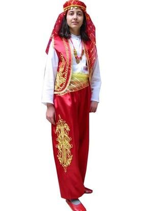 Dilek Kostüm Türkmen Kıyafeti 23 Nisan Kız Çocuk Kostümü