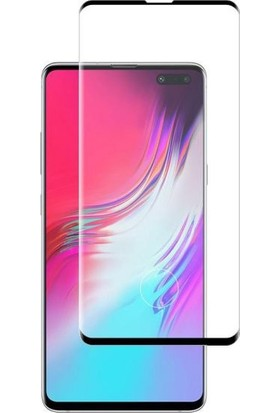 Dafoni Samsung Galaxy Note 10 Plus Curve Tempered Glass Premium Siyah Full Cam Ekran Koruyucu
