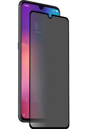 Dafoni Xiaomi Mi 9 Curve Privacy Tempered Glass Premium Cam Ekran Koruyucu