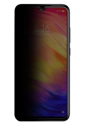 Eiroo Xiaomi Redmi Note 7 Curve Privacy Tempered Glass Cam Ekran Koruyucu