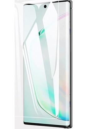 Ally Gor Samsung Galaxy Note 10+ Plus 3D Kavisli Full Kaplama Ekran Koruyucu 2 Adet Set AL-31102 Şeffaf