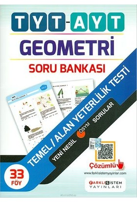 Farklı Sistem Tyt Ayt Geometri Fasikül Soru Bankası