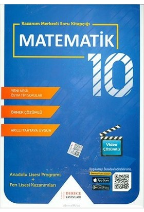 Derece Yayınları DRC 10.Sınıf Matematik Modüler Set 2020-2021
