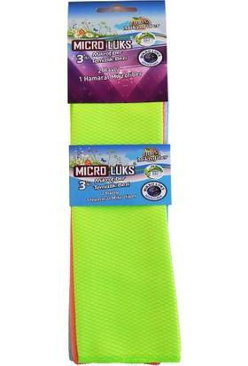 Microlüks 3'lü Mikrofiber Temizlik Bezi