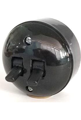 Marketcik Sıva Üstü Klasik 2'li Komitatör Anahtar Siyah Renk