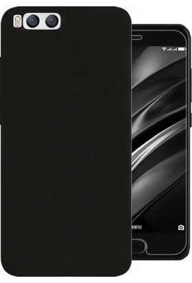 Kılıfist Xiaomi Mi 6 Kılıf Premier Mat Silikon Kılıf Slim Fit + Esnek Nano Cam Siyah