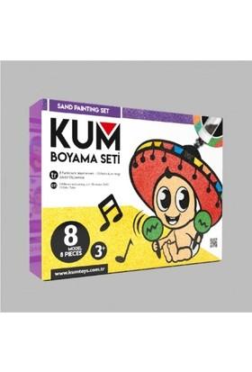 Kumtoys Yapışkanlı 10 Renk 8'li Kum Boyama Seti