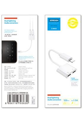 Aktif Aksesuar Joyroom iPhone Lightning 2in1 Şarj Kulaklık Dönüştürücü Jack Adaptör