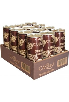 Cafekeyf Strigo Soğuk Kahve Double Shot 250 ml Slim Kutu