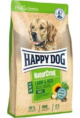 Happy Dog Naturcroq Kuzu ve Pirinçli Yetişkin Köpek Maması 15 kg