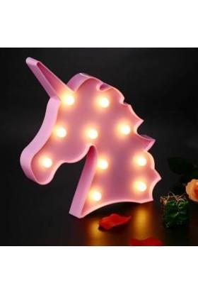 Milagros Pembe Unicorn LED Lamba